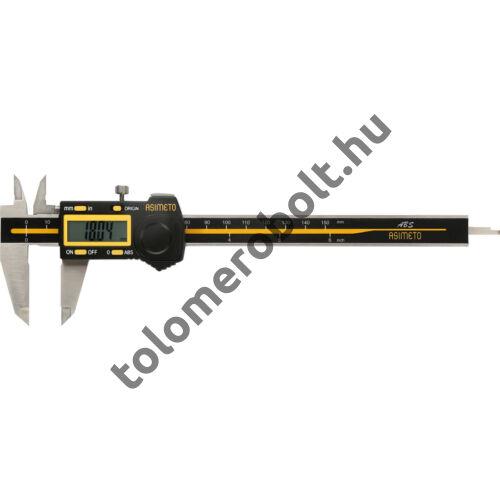 ASIMETO Tolómérő Digitális 0 - 200 mm Szögletes mélységmérő 307-58-2