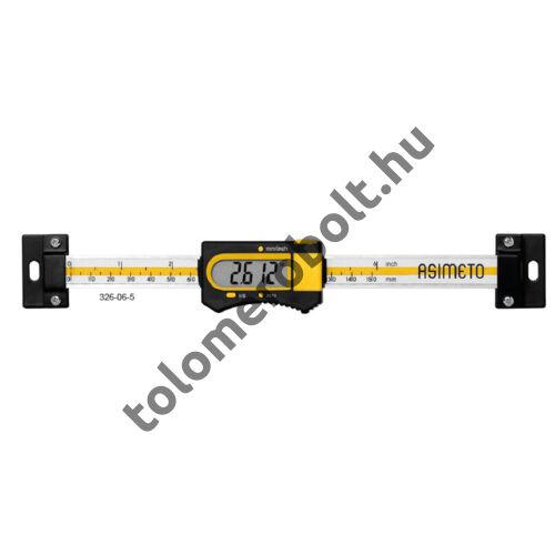 ASIMETO Beépíthető tolómérő Digitális 0 - 200 mm 326-08-5