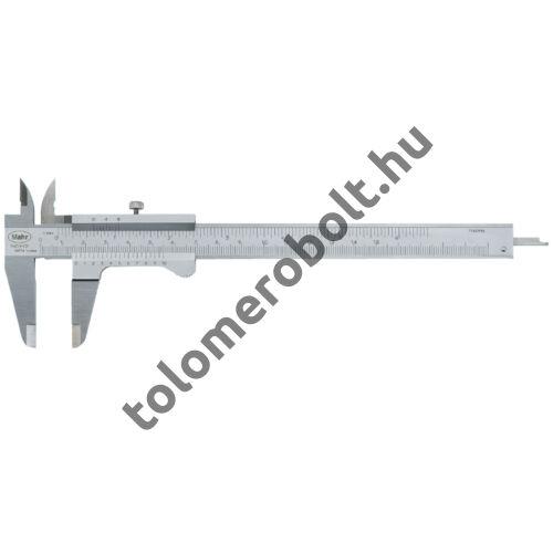 "MAHR Vernier Caliper, satin-chrome finish, stainless steel, incl. case + thread table, Measuring range mm/inch: 200/0,05 -1/128"" 4100401"