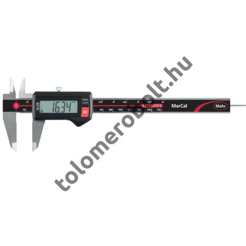 MAHR Digital Caliper REFERENCE, incl. plastic case, battery, without data output – with round depth bar, Measuring range mm/inch: 150 4103010