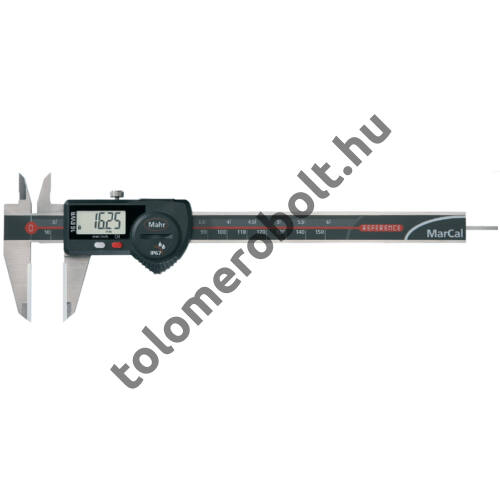 MAHR Digital Caliper REFERENCE, IP 67, special design, incl. case, battery: with round depth bar and ceramic measuring faces, Measuring range mm/inch: 150 4103072
