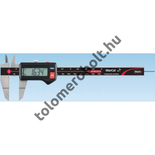 MAHR Digital Caliper REFERENCE, IP 67, special design, incl. case, battery: blade type measuring anvils, Measuring range mm/inch: 150 4103374