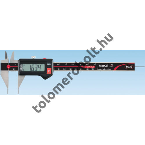 MAHR Digital Caliper REFERENCE, IP 67, special design, incl. case, battery: with extended points, Measuring range mm/inch: 150 4103376
