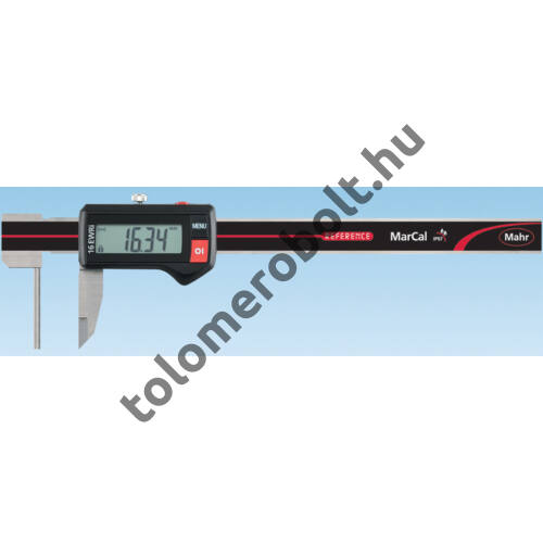 MAHR Digital Caliper REFERENCE, IP 67, special design, incl. case, battery: for measuring tube wall thickness, Measuring range mm/inch: 150 4103381