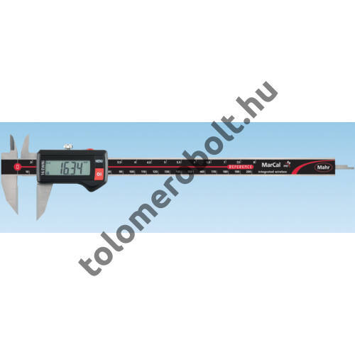 MAHR Digital Caliper REFERENCE, IP 67, special design, incl. case, battery: with carbide-tipped jaws for scribing on workpiece, Measuring range mm/inch: 200 4103382