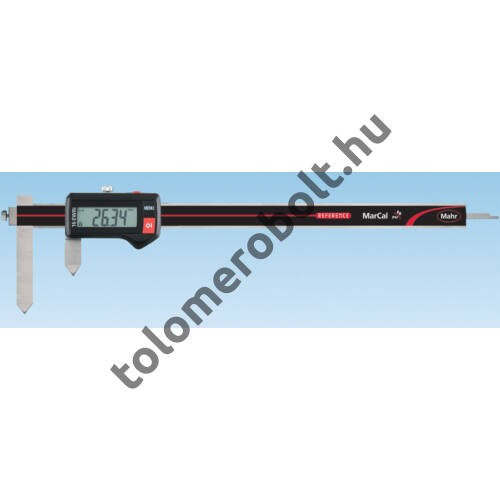 MAHR Digital Caliper REFERENCE, IP 67, special design, incl. case, battery: with slidable jaws for center to center distance measurement, Measuring range mm/inch: 10-210 4103384