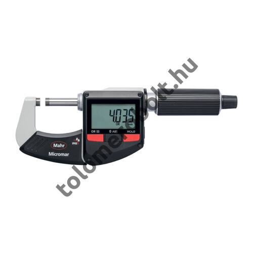 MAHR Digital Micrometer IP 65, [17], water protected, switchable metric/inch without data output, incl. plastic case (setting piece as of meas. range 25-50 mm), battery , Measuring range mm/inch: 0-25 4157011