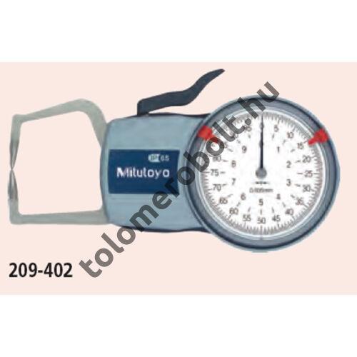 MITUTOYO Karos mérőóra külső méréshez Órás : 0 - 20 mm IP65 209-407