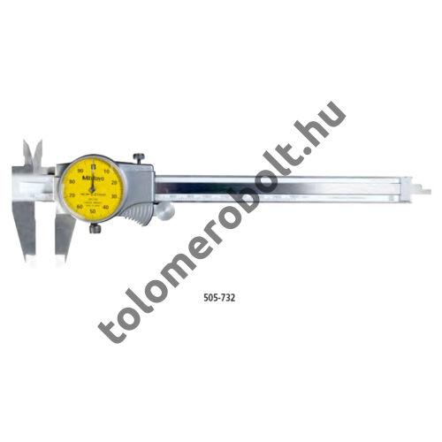 MITUTOYO Tolómérő Órás 0 - 150 mm Görgővel Szögletes mélységmérő 505-734