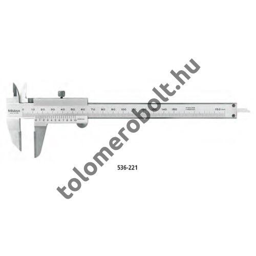 MITUTOYO Előrajzoló tolómérő Nóniuszos 0 - 200 mm Szögletes mélységmérő 536-222