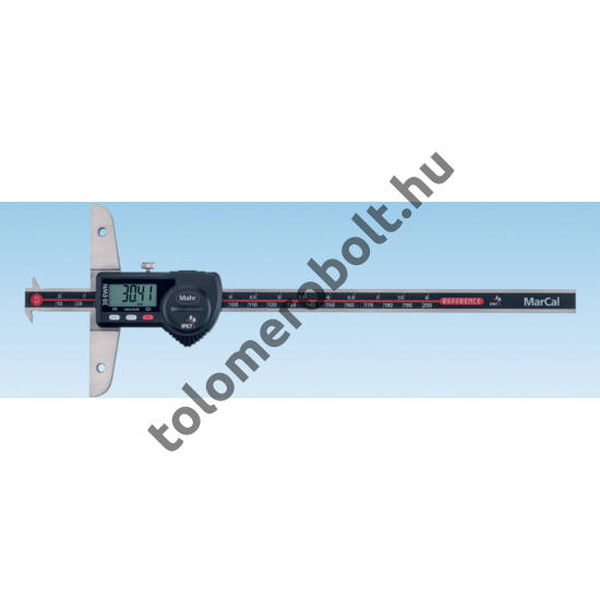 MAHR Digital Depth Gage with double hook and data output, Measuring range mm/inch: 200 4126523