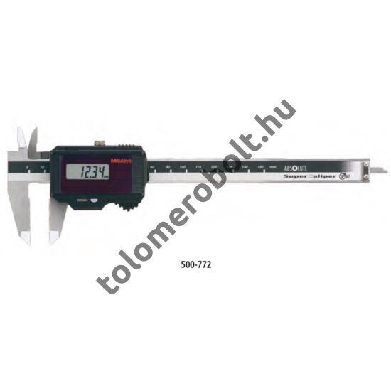 MITUTOYO Tolómérő Digitális 0 - 200 mm Görgő nélkül Szögletes mélységmérő IP67 500-773