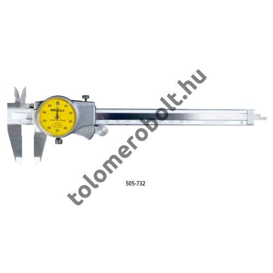 MITUTOYO Tolómérő Órás 0 - 150 mm Görgővel Szögletes mélységmérő 505-732