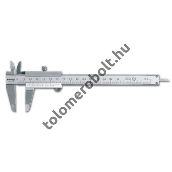 MITUTOYO Tolómérő Nóniuszos 0 - 150 mm Görgő nélkül Szögletes mélységmérő 530-104
