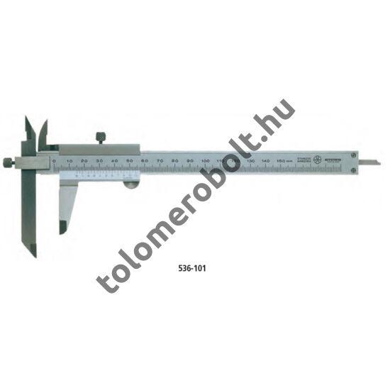 MITUTOYO Eltoltpofás tolómérő Nóniuszos 0 - 300 mm Görgő nélkül Szögletes mélységmérő 536-103