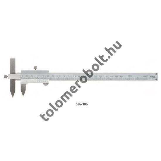 MITUTOYO Eltoltpofás központmérő tolómérő Nóniuszos 10 - 200 mm Görgő nélkül 536-106
