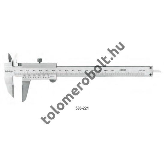MITUTOYO Előrajzoló tolómérő Nóniuszos 0 - 150 mm Görgő nélkül Szögletes mélységmérő 536-221