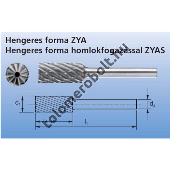 PFERD Marócsap, ZYAS - Hengeres, Keményfém (HM), Fogazás STEEL, : 16 mm x: 25 mm 002889