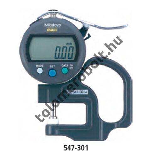 MITUTOYO Vastagságmérő Digitális : 0 - 10 mm IP42 547-301